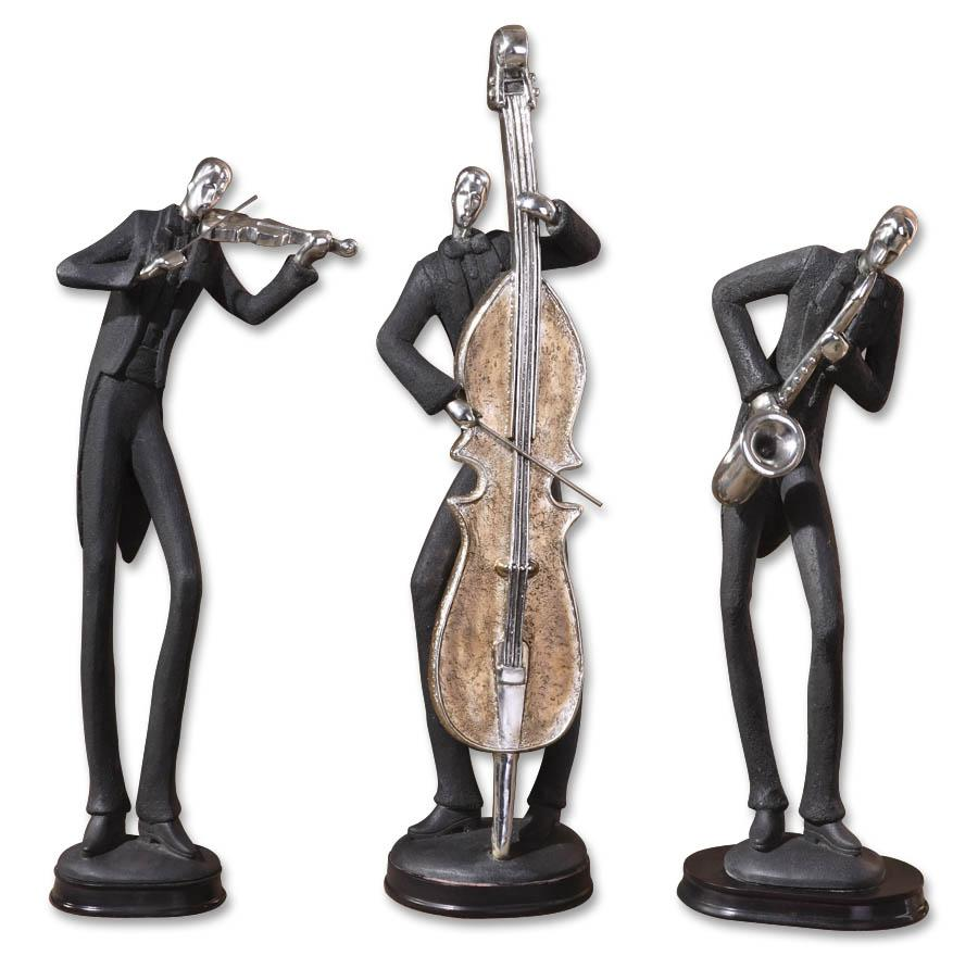 Accessories - Statues and Figurines Musicians Accessories Set of 3 by Uttermost at Suburban Furniture