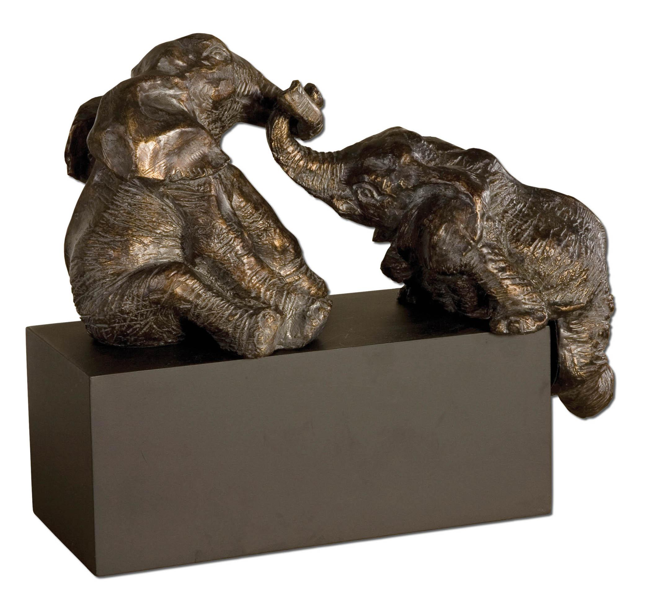 Accessories - Statues and Figurines Playful Pachyderms by Uttermost at Suburban Furniture