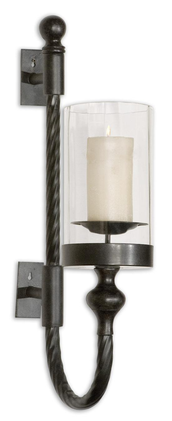 Accessories Garvin Twist Sconce With Candle by Uttermost at Mueller Furniture