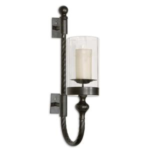 Garvin Twist Sconce With Candle