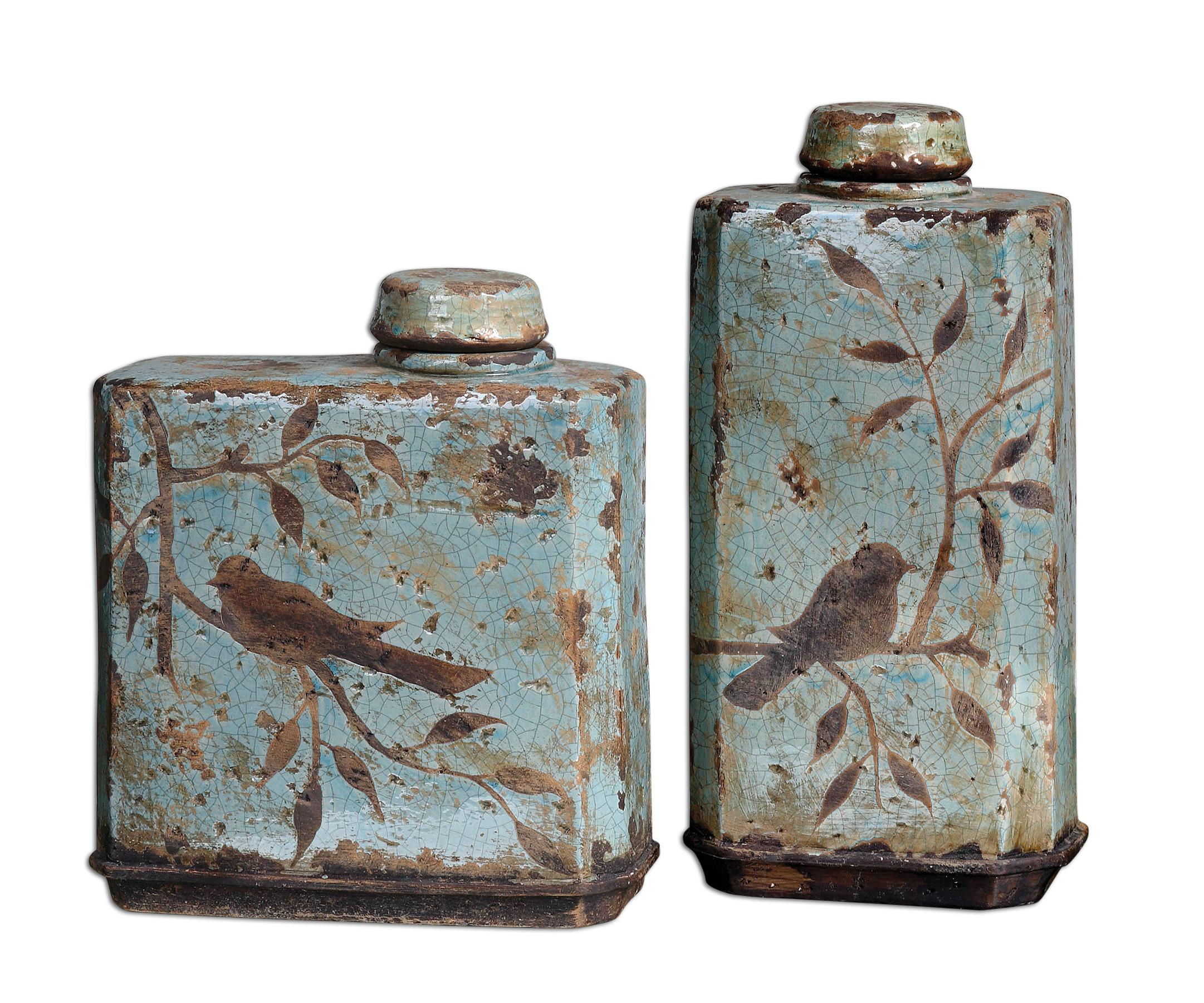 Accessories - Vases and Urns Freya Containers Set of 2 by Uttermost at Mueller Furniture