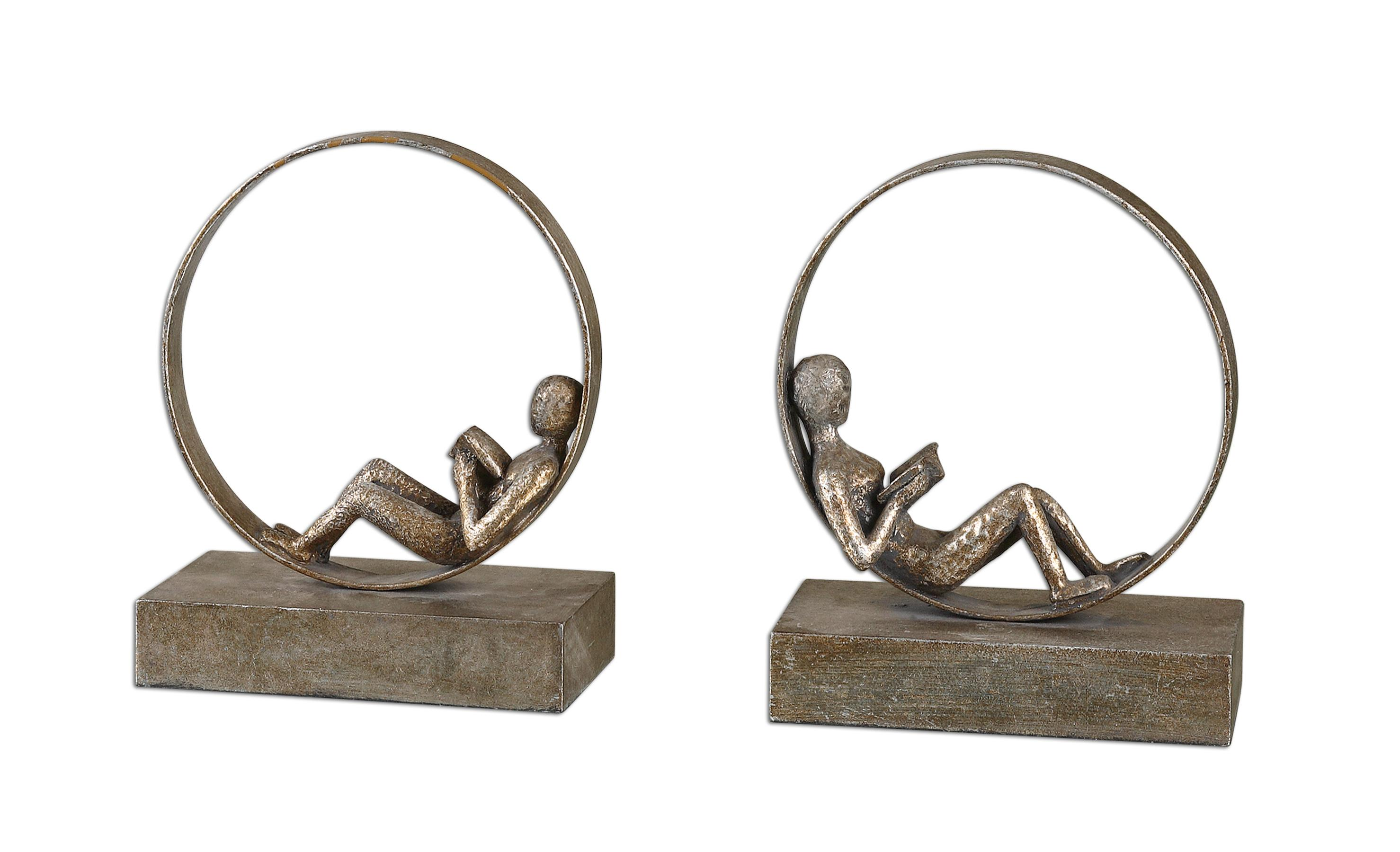 Accessories Lounging Reader Bookends Set of 2 by Uttermost at Mueller Furniture