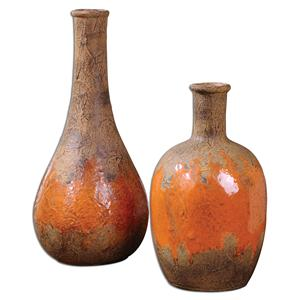Kadam Ceramic Vases, Set of  2