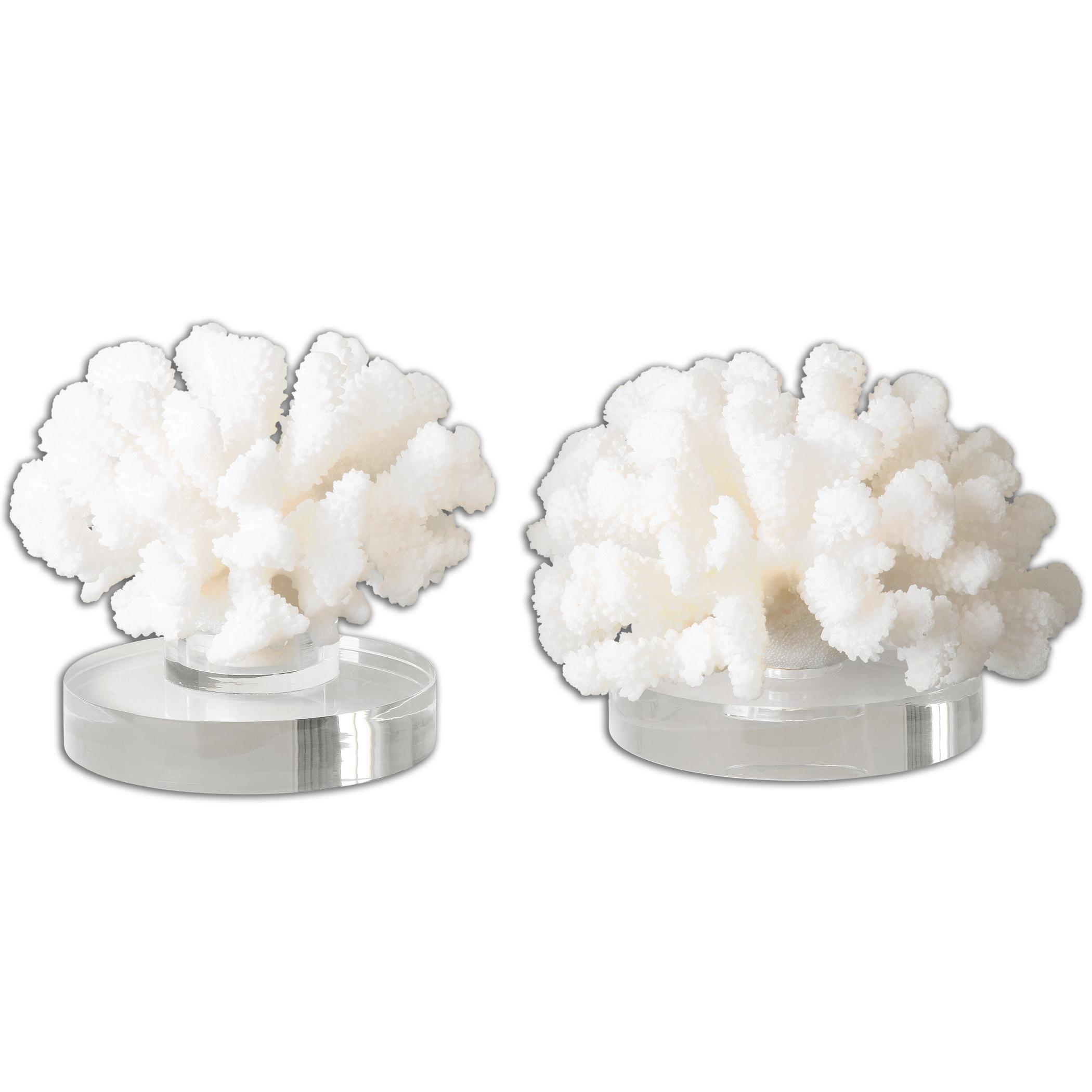 Accessories - Statues and Figurines Hard Coral Sculptures, Set of 2 by Uttermost at Mueller Furniture