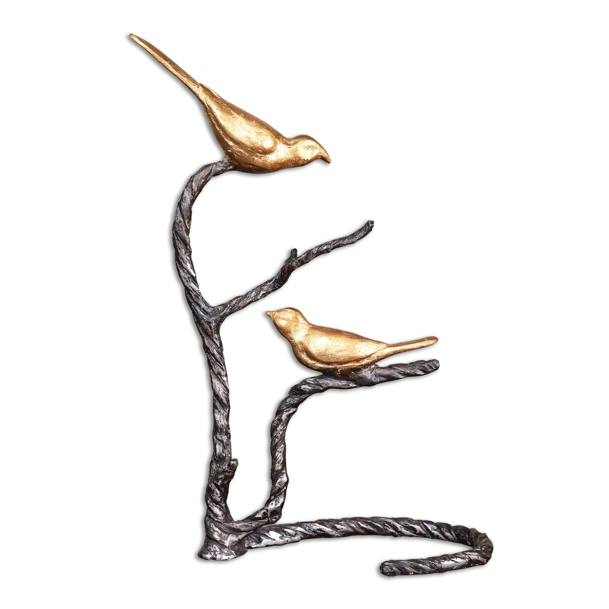 Accessories - Statues and Figurines Birds on a Limb Sculpture by Uttermost at Mueller Furniture