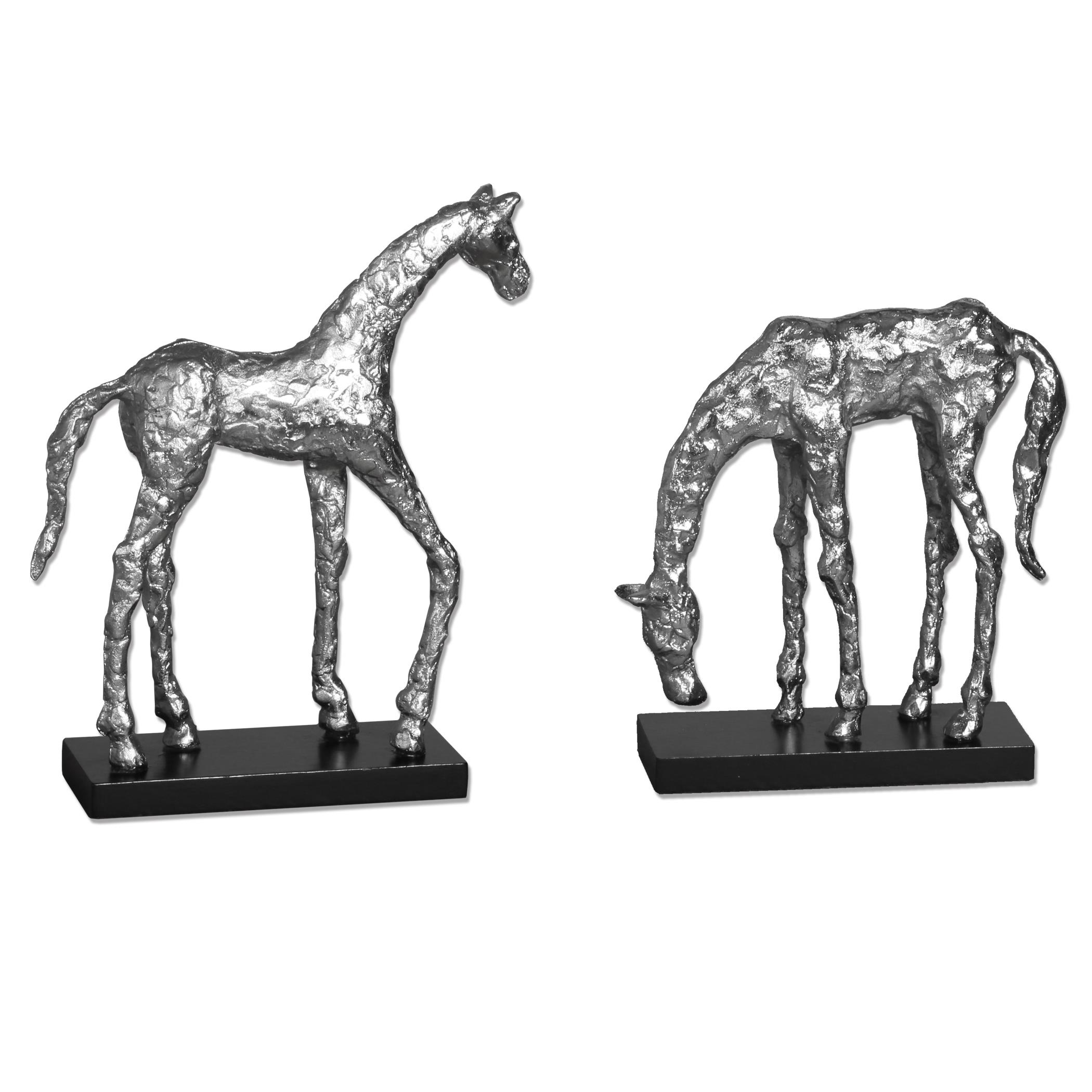 Accessories - Statues and Figurines Let's Graze Horse Statues, S/2 by Uttermost at Mueller Furniture