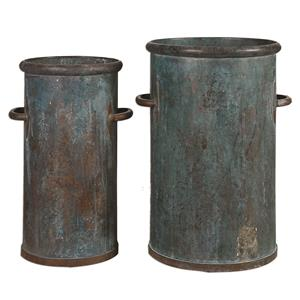 Barnum Tarnished Copper Cans, S/2