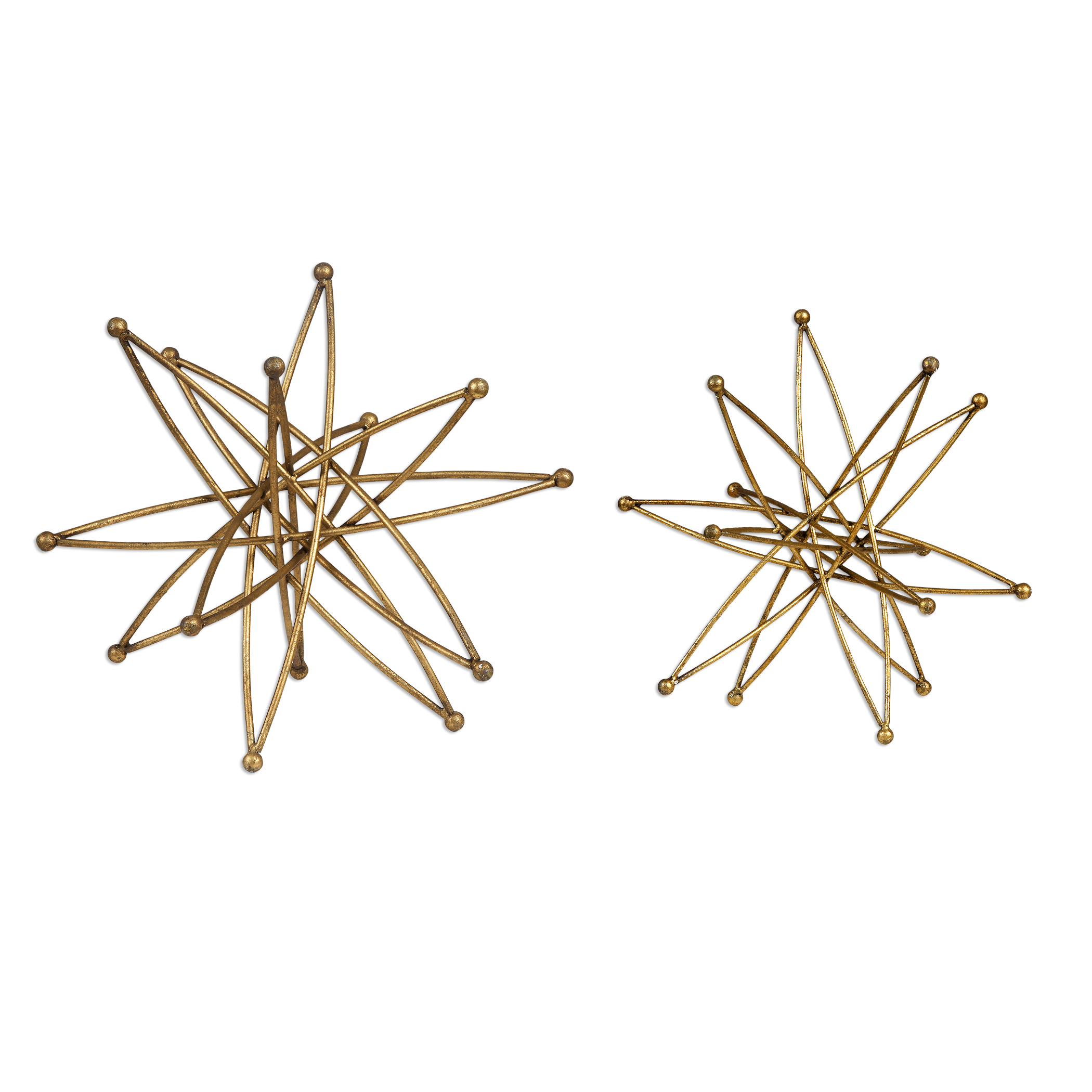 Accessories - Statues and Figurines Constanza Gold Atom Accessories, S/2 by Uttermost at Mueller Furniture