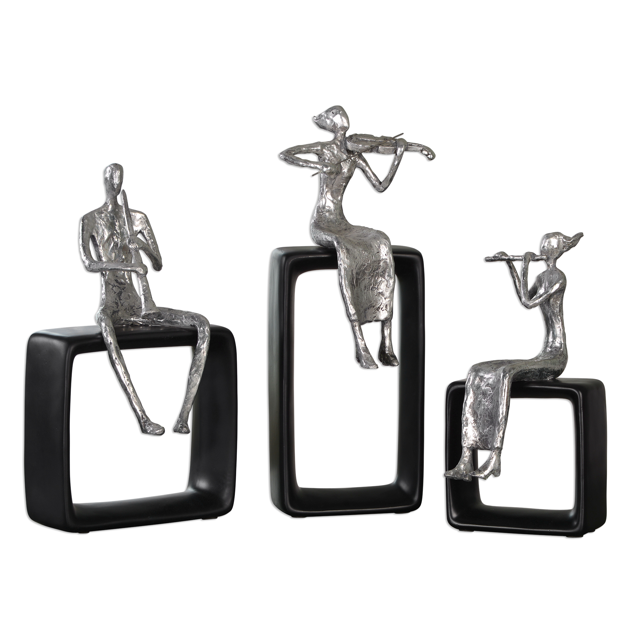 Accessories - Statues and Figurines Musical Ensemble Statues, S/3 by Uttermost at Suburban Furniture
