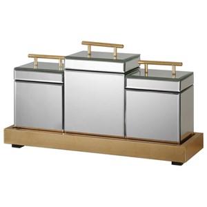 Faustina Boxes And Tray (Set of 4)