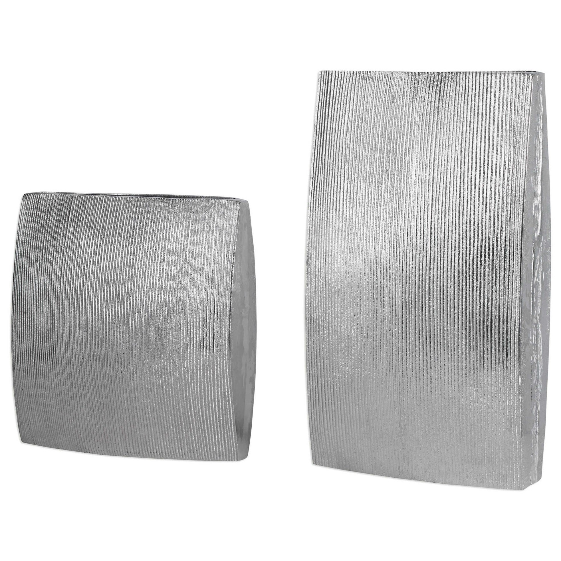 Accessories - Vases and Urns Darla Aluminum Vases (Set of 2) by Uttermost at Mueller Furniture