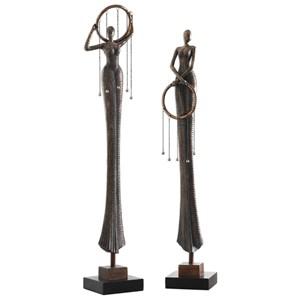 Ring Dance Sculpture (Set of 2)