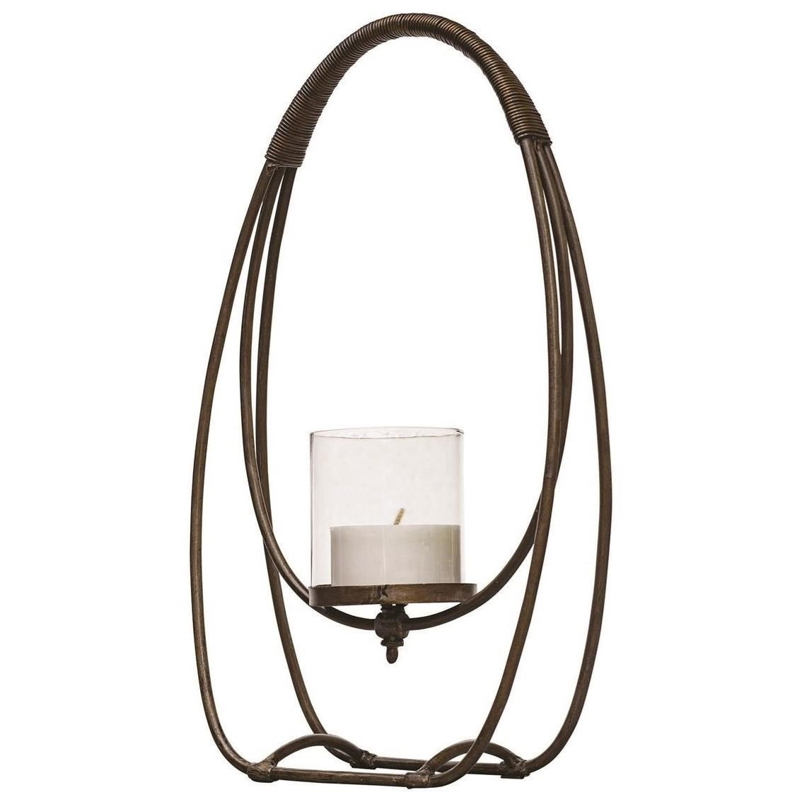 Accessories - Candle Holders Rayne Open Iron Candleholder by Uttermost at Miller Waldrop Furniture and Decor