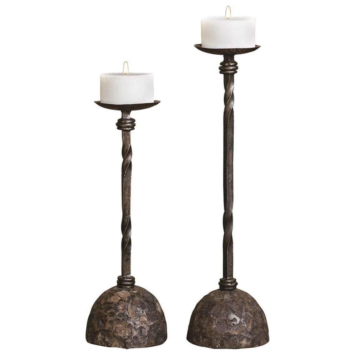 Accessories - Candle Holders Keegan Tall Candleholders, Set/2 by Uttermost at Mueller Furniture