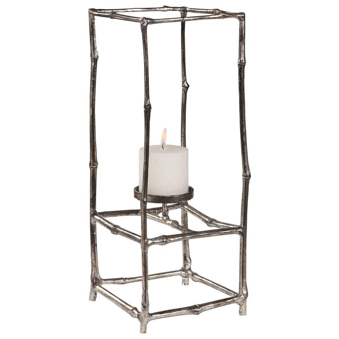 Accessories - Candle Holders Genaro Silver Branch Candleholder by Uttermost at Mueller Furniture