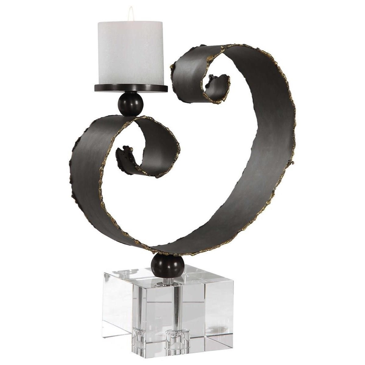 Accessories - Candle Holders Yarina Dark Bronze Candleholder by Uttermost at Mueller Furniture