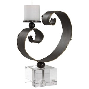 Yarina Dark Bronze Candleholder