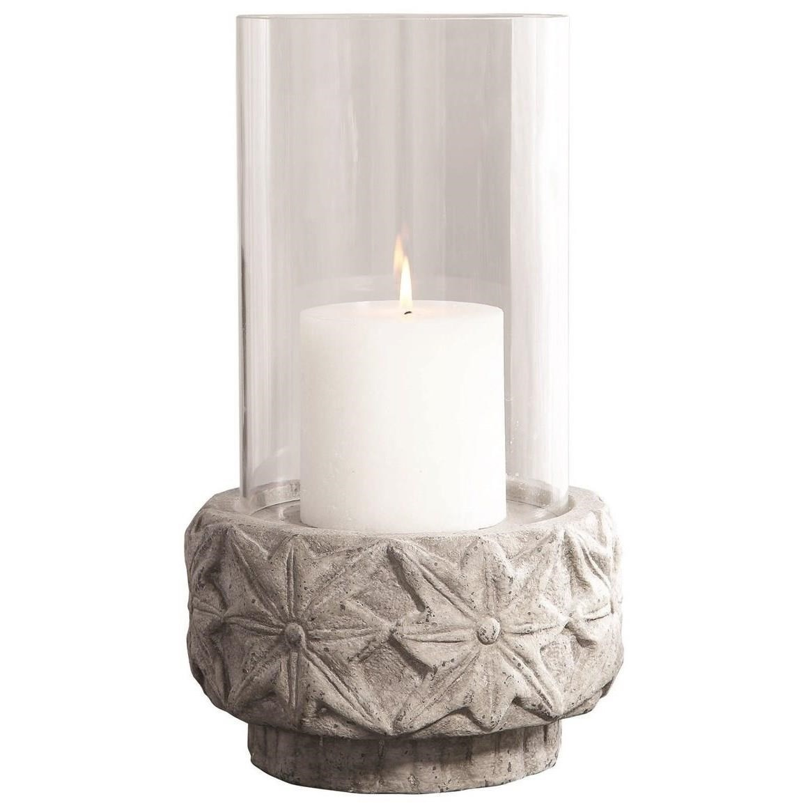 Accessories - Candle Holders Capistrano Concrete Candleholder by Uttermost at Mueller Furniture