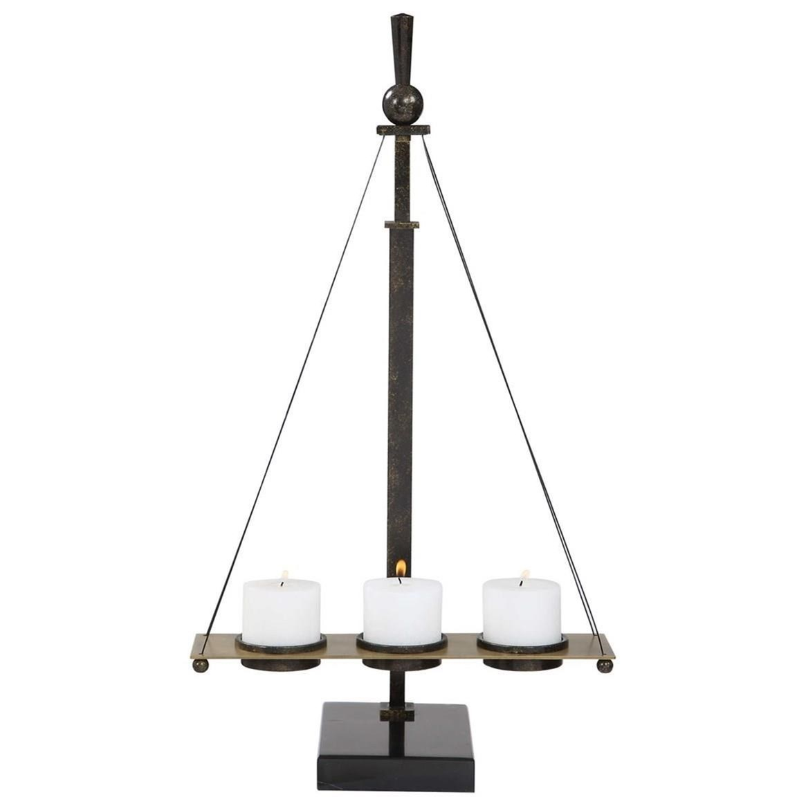 Accessories - Candle Holders Breckenridge Candleholder by Uttermost at Dunk & Bright Furniture