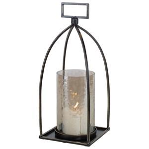 Riad Bronze Lantern Candleholder