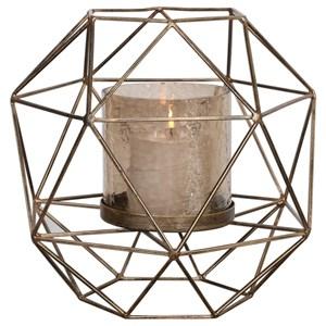 Myah Geometric Gold Candleholder