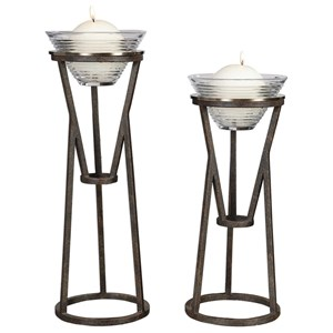 Lane Iron Candleholders (Set of 2)