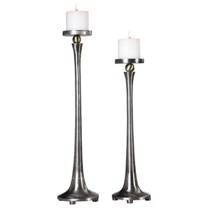 Aliso Cast Iron Candleholders (Set of 2)