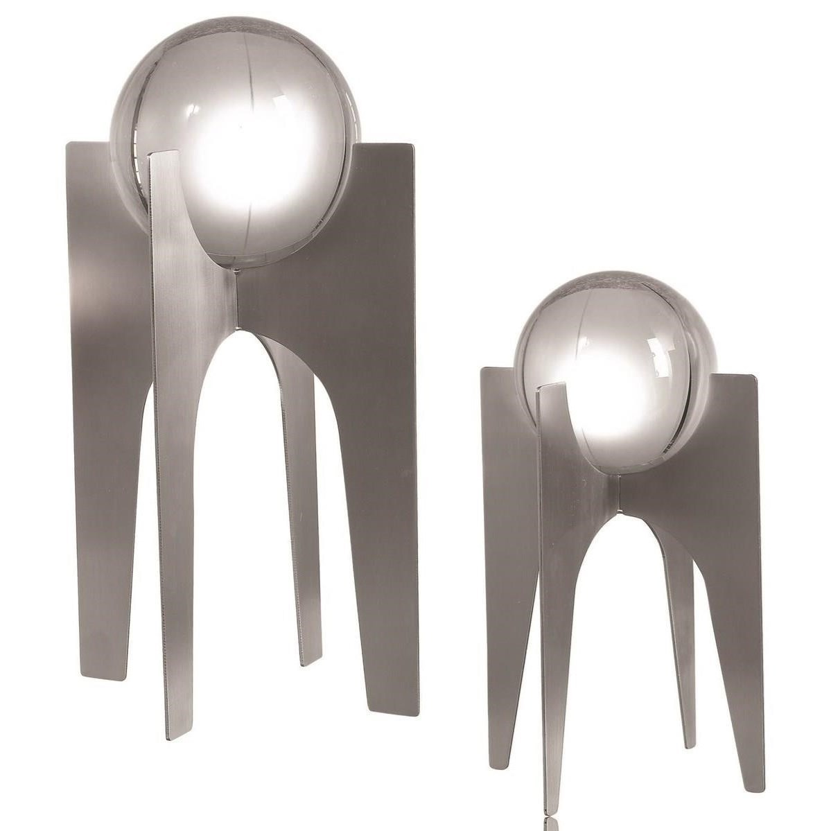 Accessories - Statues and Figurines Ellianna Silver Sculpture, Set/2 by Uttermost at Mueller Furniture