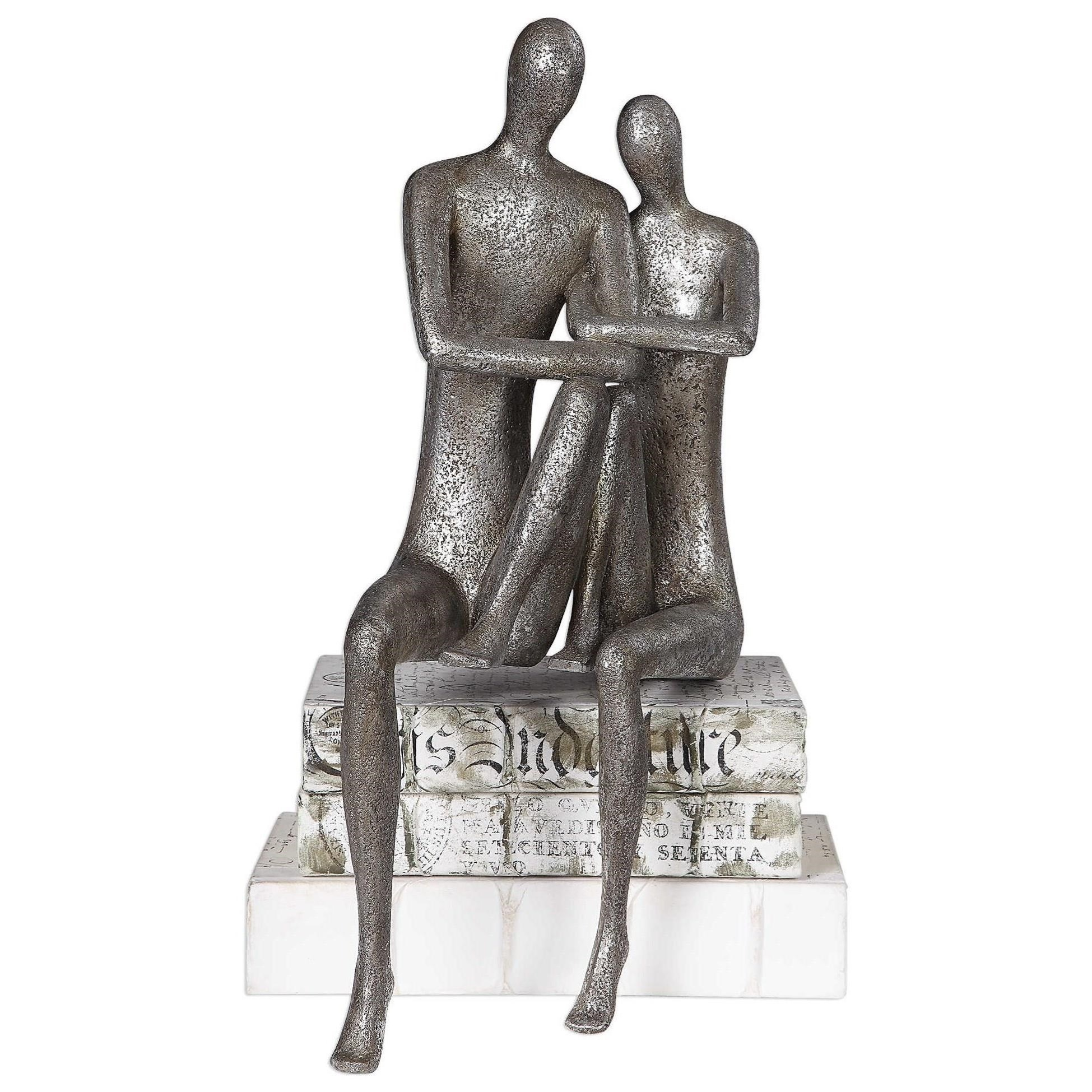 Accessories - Statues and Figurines Courtship Antique Nickel Figurine by Uttermost at Mueller Furniture