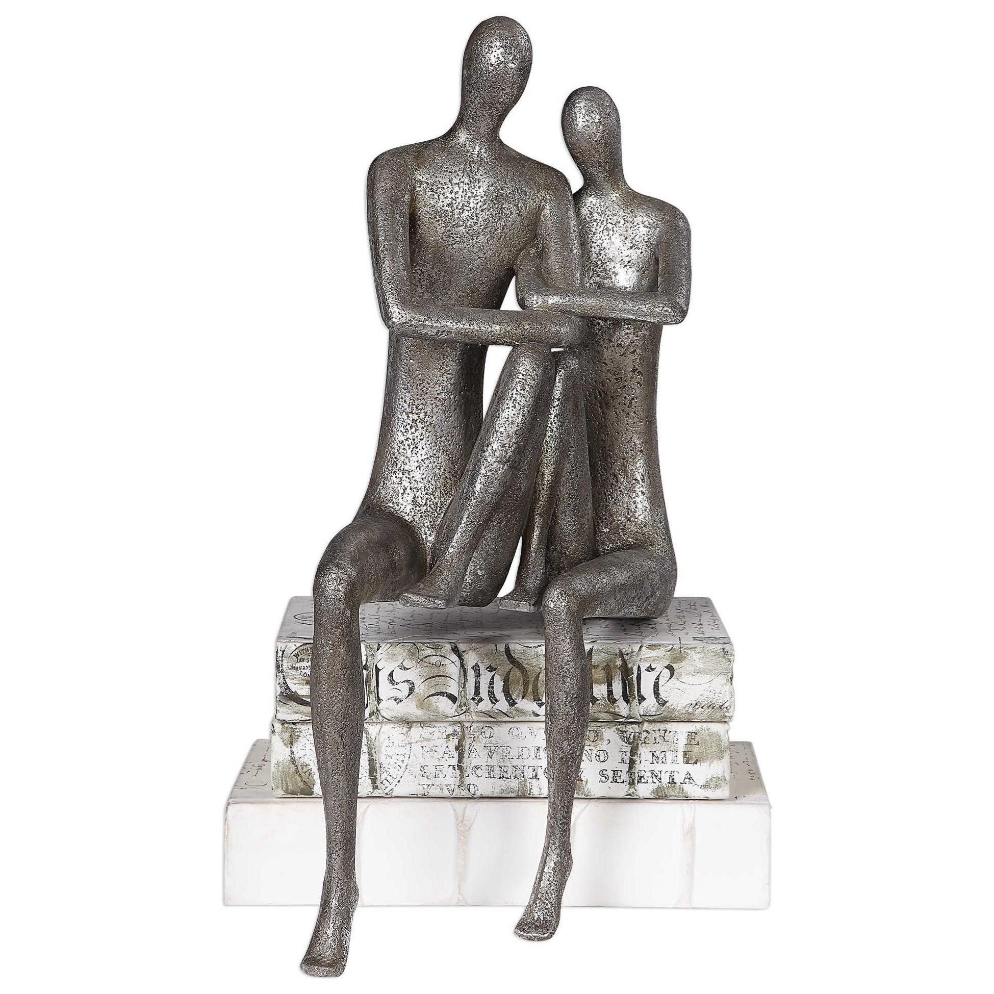 Courtship Antique Nickel Figurine