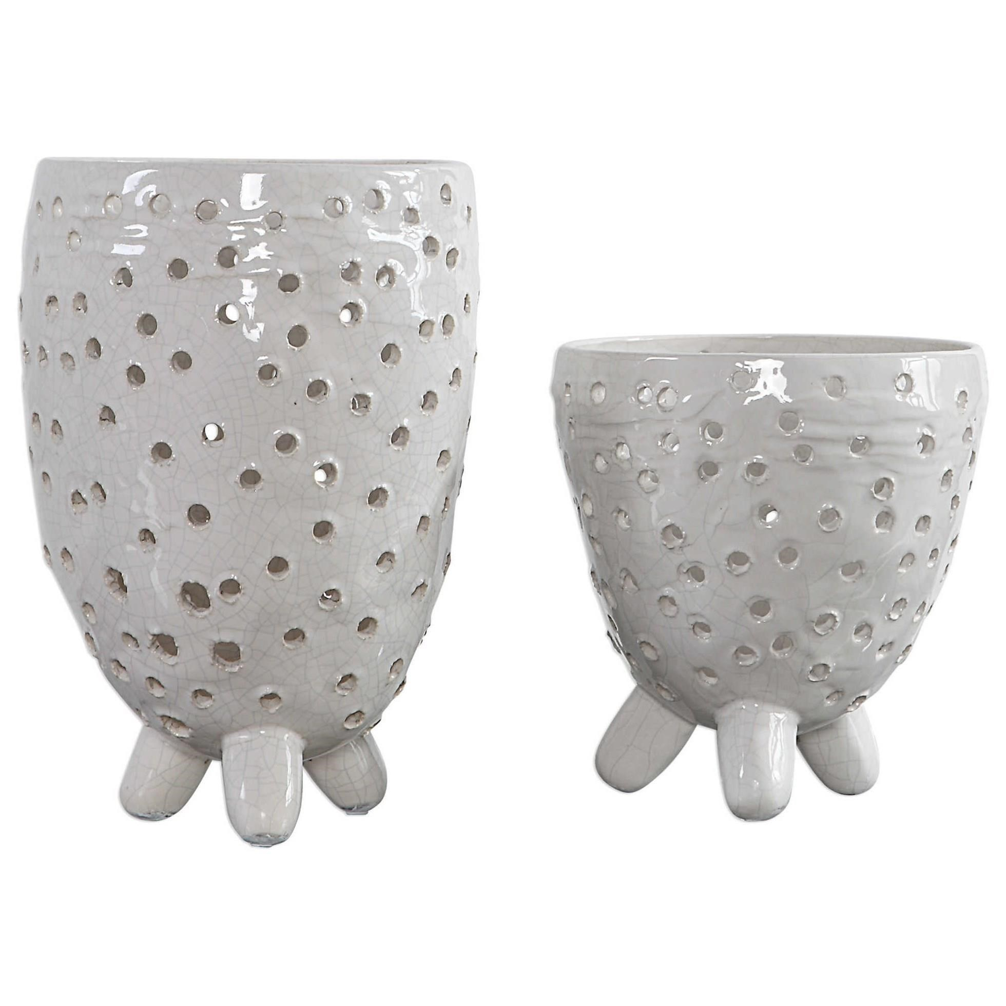 Accessories - Vases and Urns Milla Mid-Century Modern Vases, S/2 by Uttermost at Mueller Furniture
