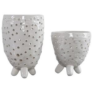 Milla Mid-Century Modern Vases, S/2