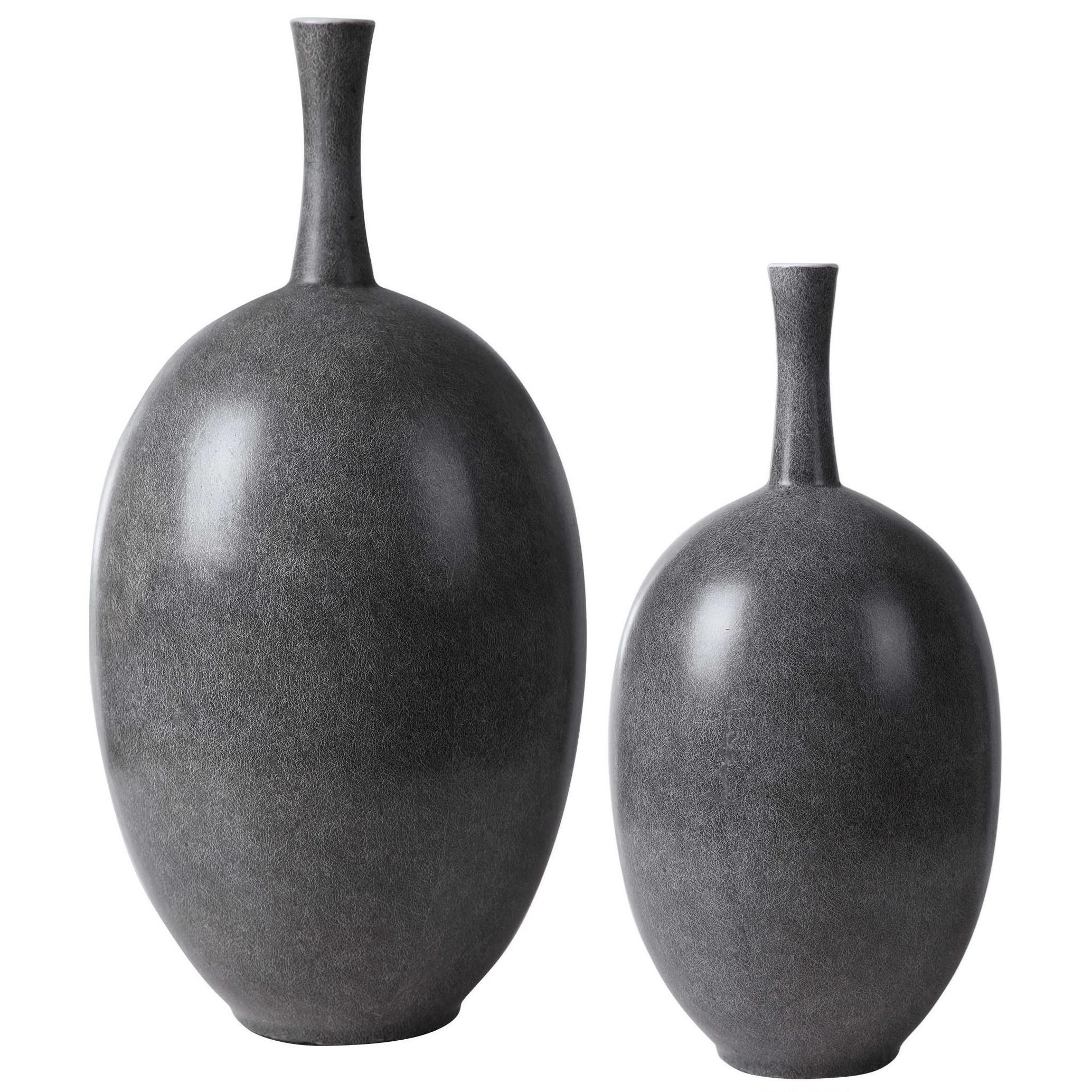 Accessories - Vases and Urns Riordan Modern Vases, S/2 by Uttermost at Mueller Furniture