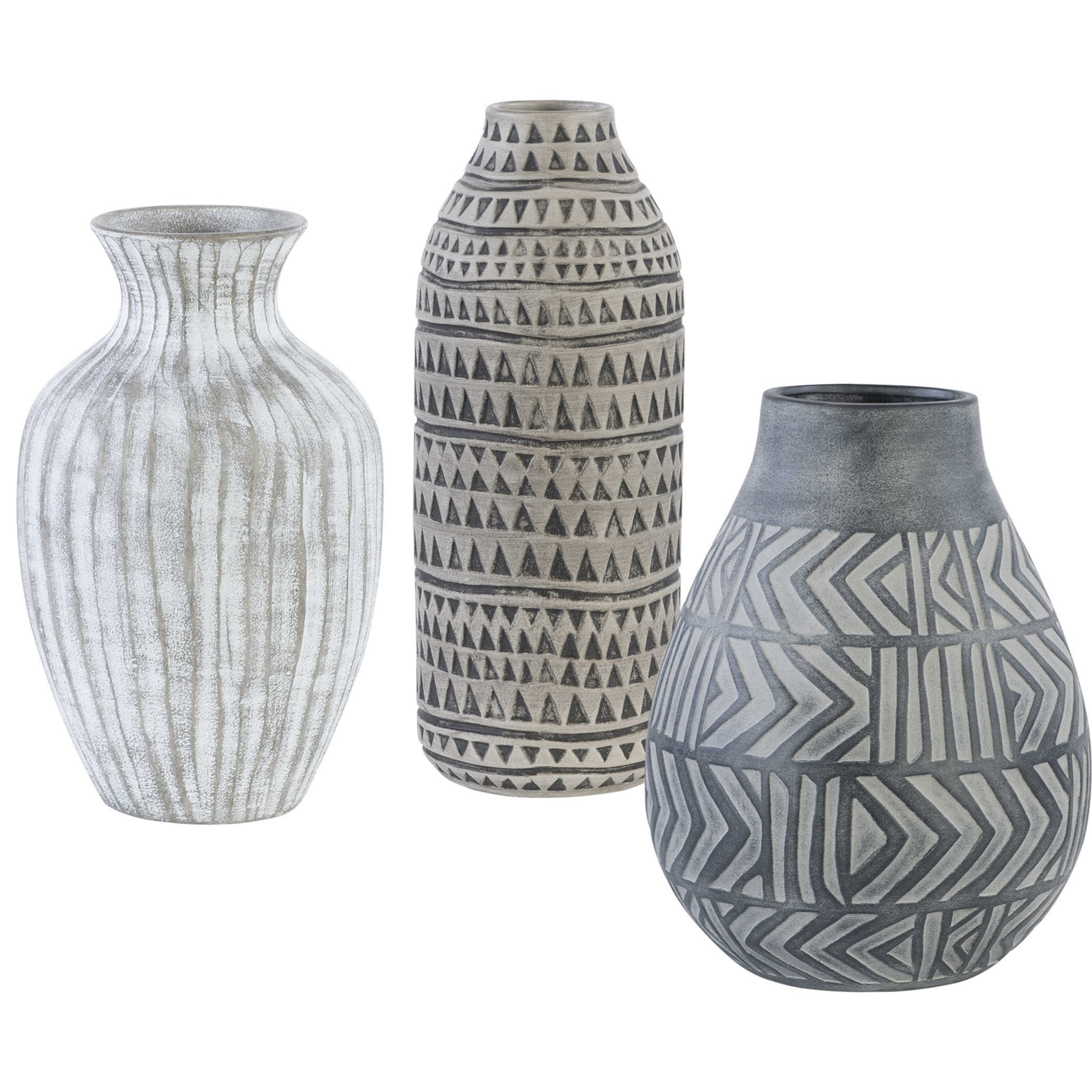 Accessories - Vases and Urns Natchez Geometric Vases, S/3 by Uttermost at Mueller Furniture