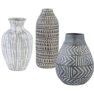 Natchez Geometric Vases, S/3