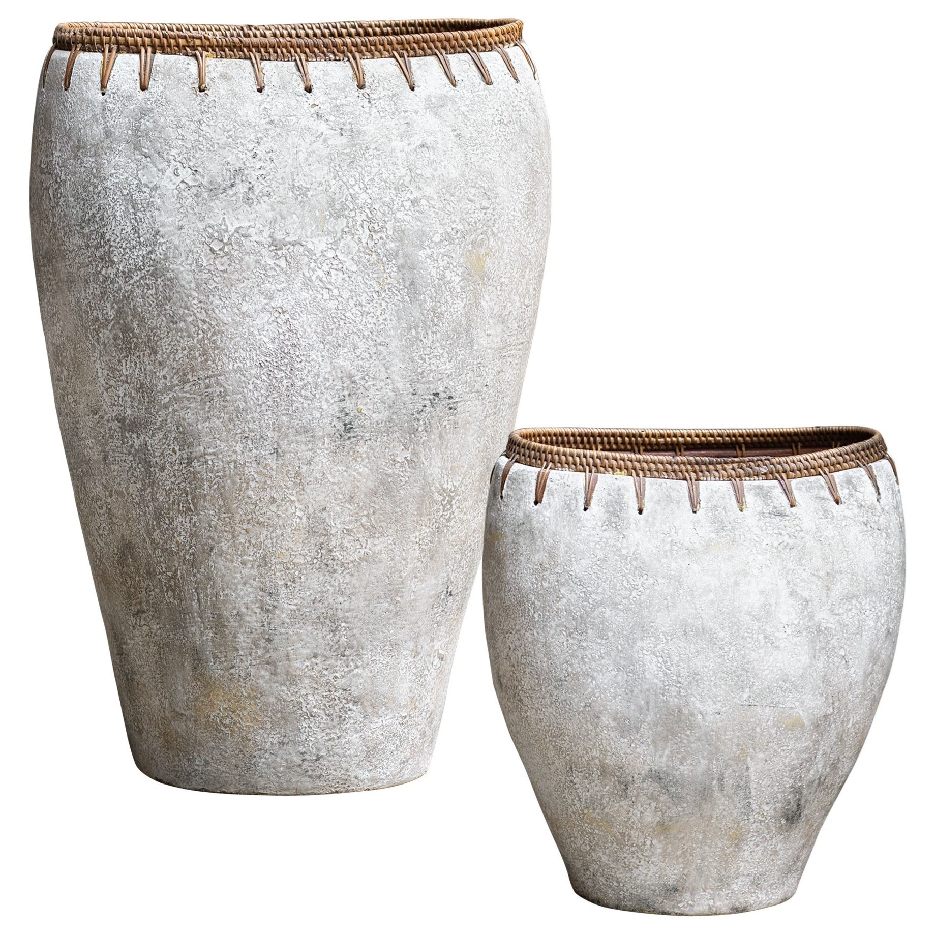 Accessories - Vases and Urns Dua Terracotta Vases, S/2 by Uttermost at Mueller Furniture