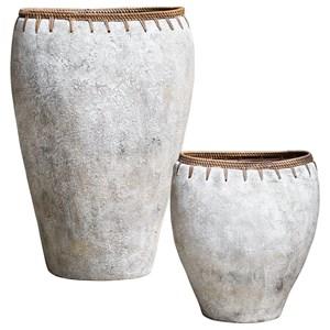 Dua Terracotta Vases, S/2