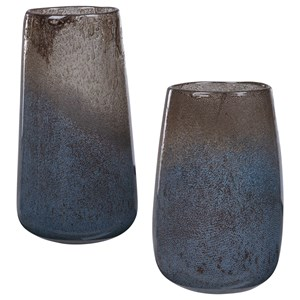 Ione Seeded Glass Vases, Set of 2