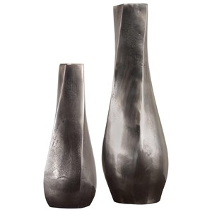 Noa Dark Nickel Vases Set/2