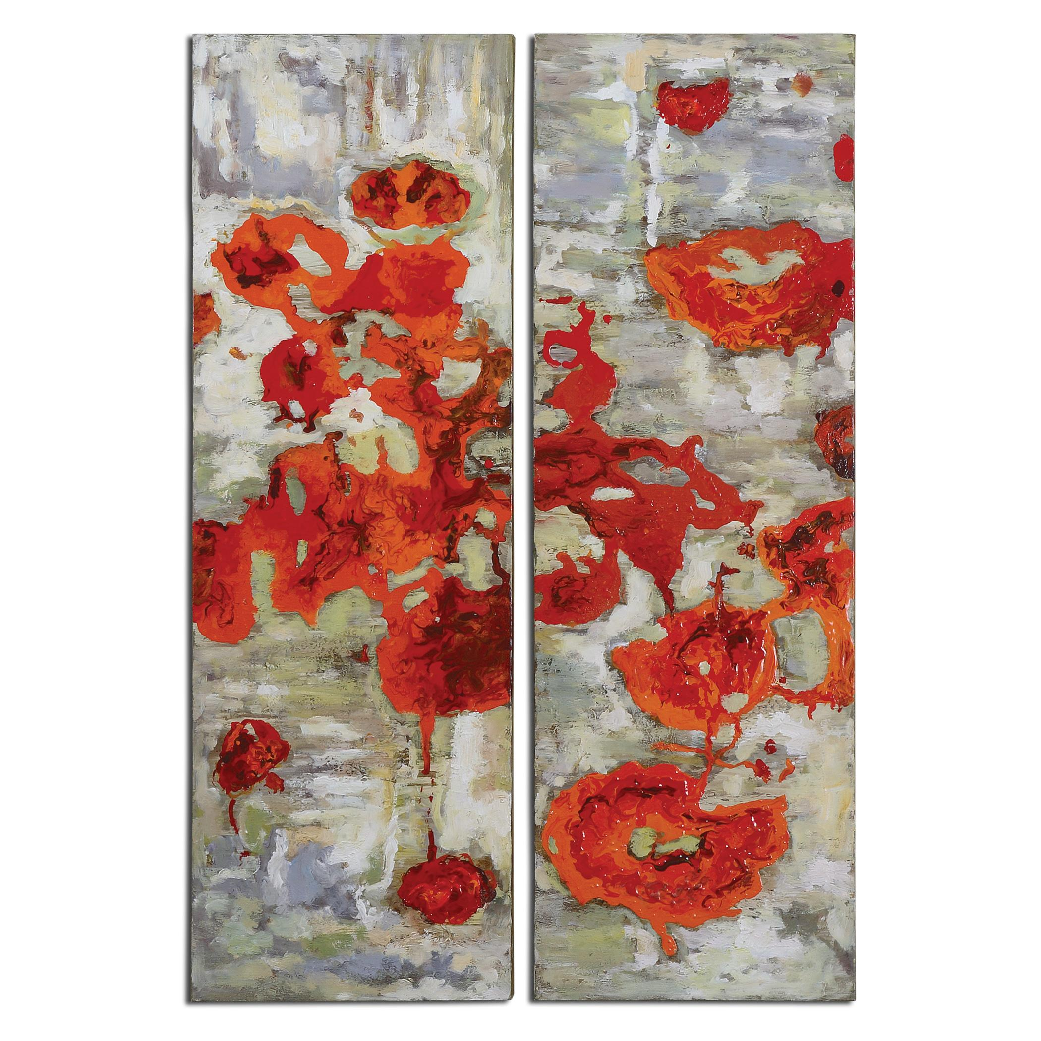 Art Scarlet Poppies Floral Art, Set of  2  by Uttermost at Upper Room Home Furnishings