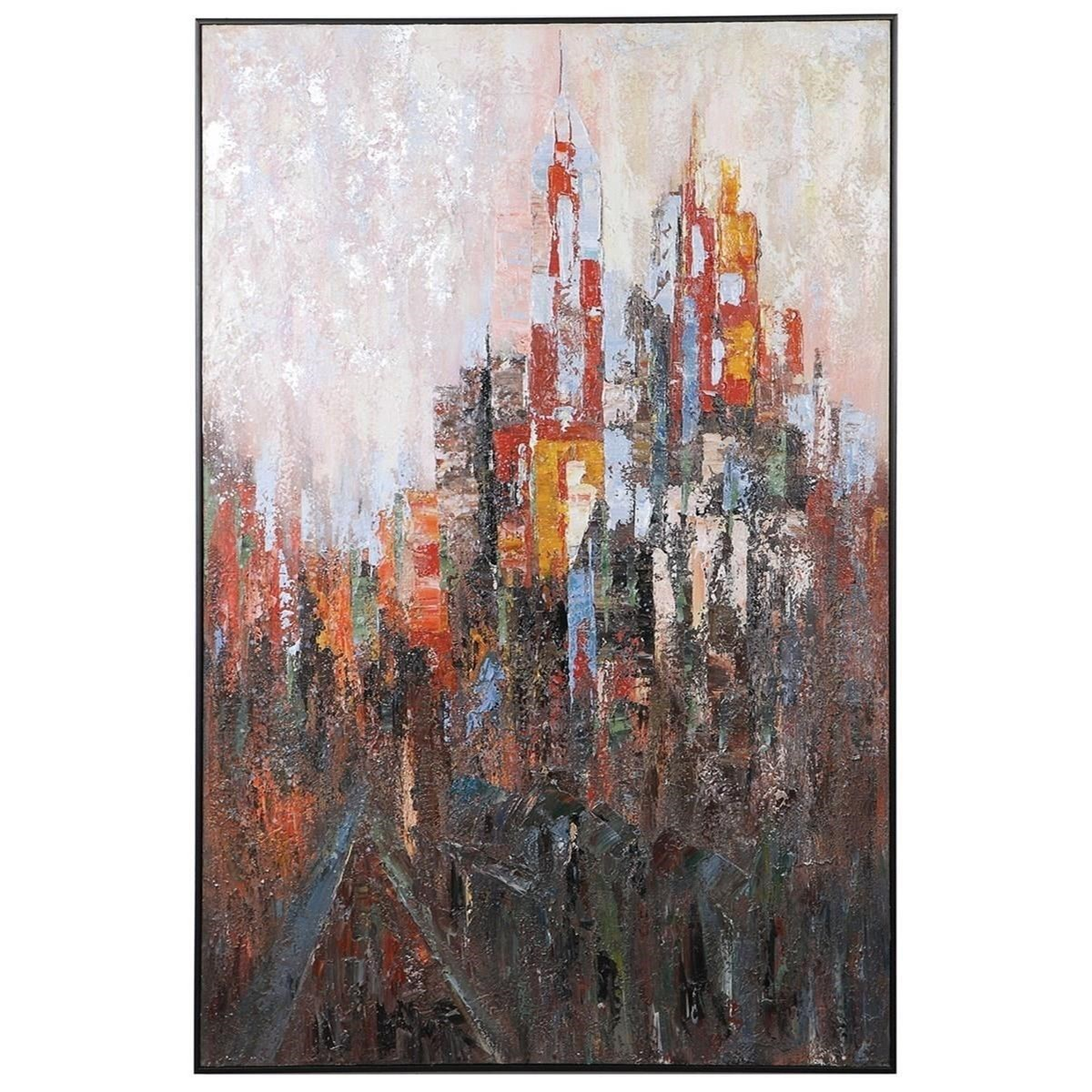 Art Concrete Jungle Hand Painted Canvas by Uttermost at Upper Room Home Furnishings