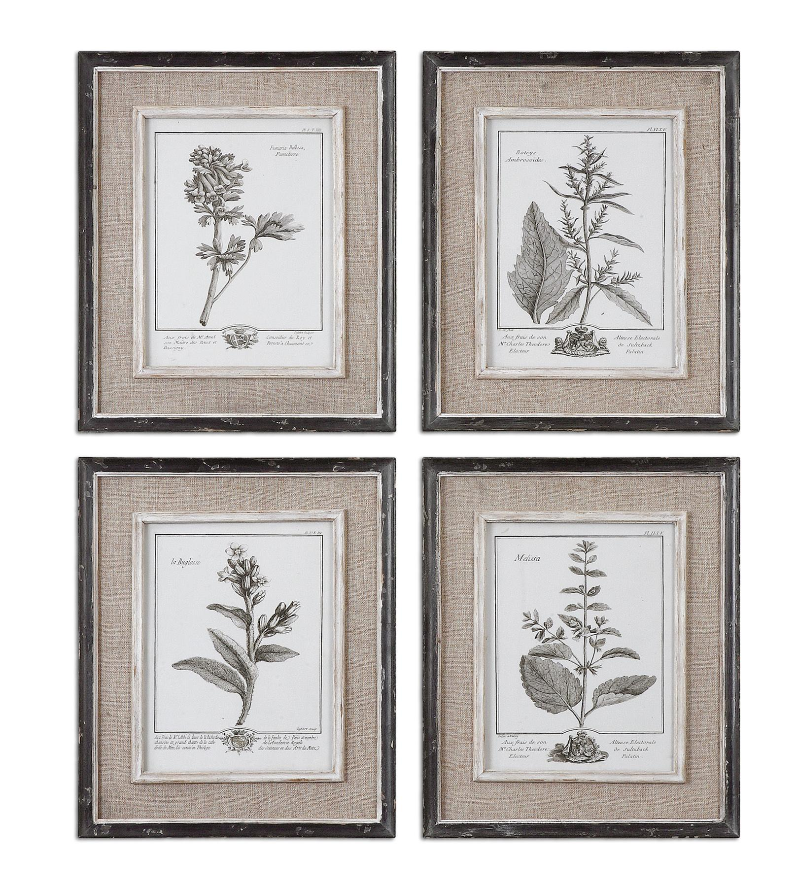 Framed Prints Casual Grey Study Framed Prints, S/4 by Uttermost at Michael Alan Furniture & Design