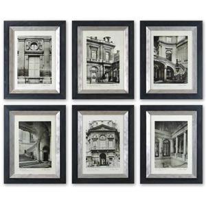 Paris Scene Framed Prints, Set of 6
