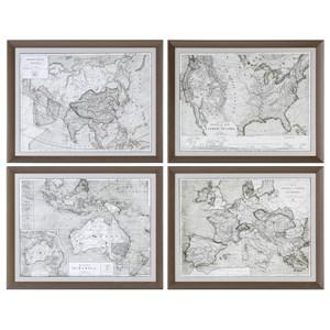 World Maps (Set of 4)