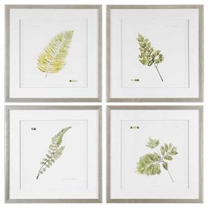 Watercolor Leaf Study Prints (Set of 4)
