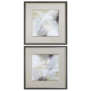 Abstract Vistas Framed Prints Set of 2