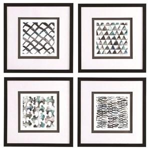 La Mer Framed Prints, Set/4