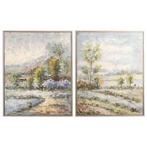 Set of 2 Wayward Rivers Landscape Art