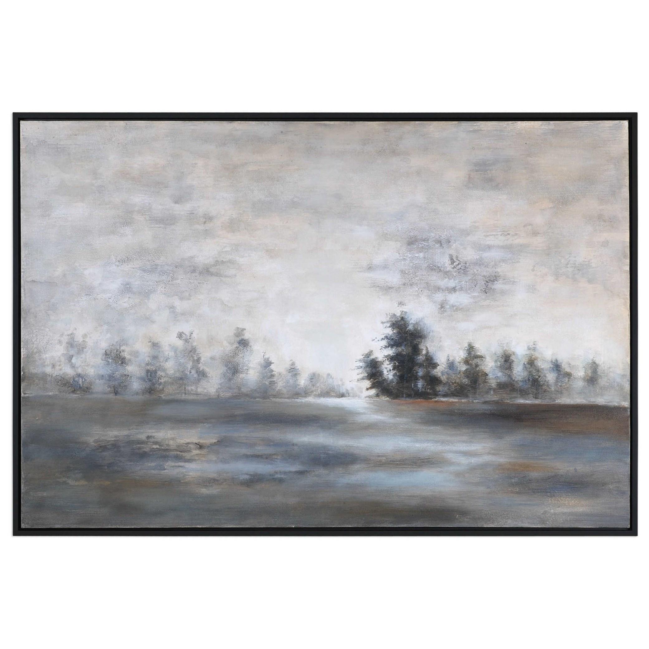 Art Evening Mist Landscape Art by Uttermost at Mueller Furniture