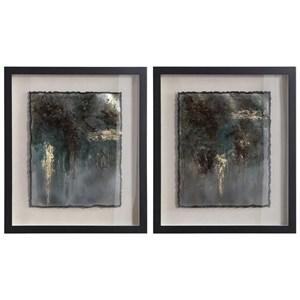Rustic Patina Framed Prints, Set/2